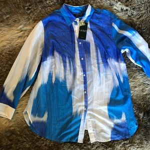 NWT Ralph Lauren blue long sleeve button down 1X